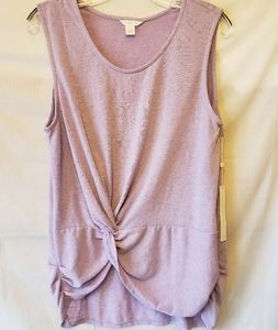 NWT Caslon Front Twist Sleeveless Sweater